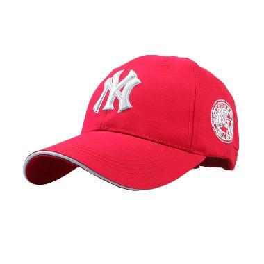 Ormano Baseball Snapback Hip Hop NY 98 Topi - Merah