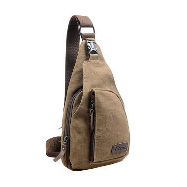 Ormano Bodypack Bag Tas Selempang Pria - Coklat Tua