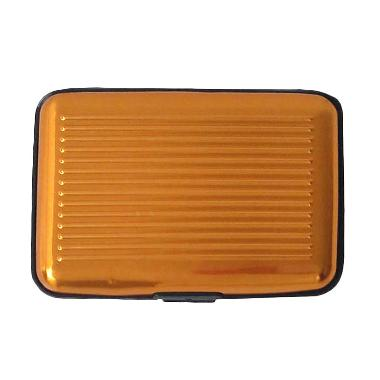 Orange's  Metal Case Dompet Kartu - Gold
