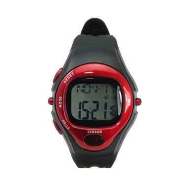 harga Ormano Sport Gym Fitness Pulse Monitor Watch Jam Tangan Olahraga - Black Red Blibli.com