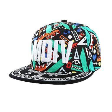 Ormano Topi Baseball Hip Hop Cap MDIV Snapback - Hijau