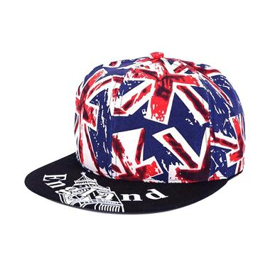 Ormano Topi Baseball Snapback England Cap - Biru