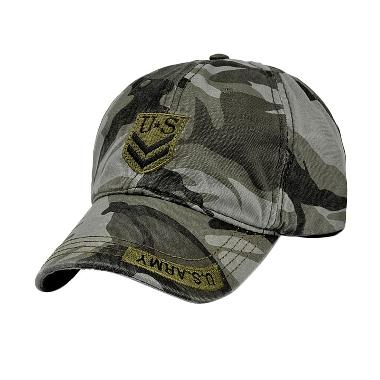 Ormano Fashion Snapback US Army Arrow Cap - Hijau Loreng