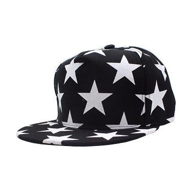 Ormano Topi Hip Hop Snapback Stars Cap - Hitam
