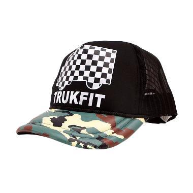 Ormano Topi Hip Hop Snapback Truckfit Army Cap - Hitam