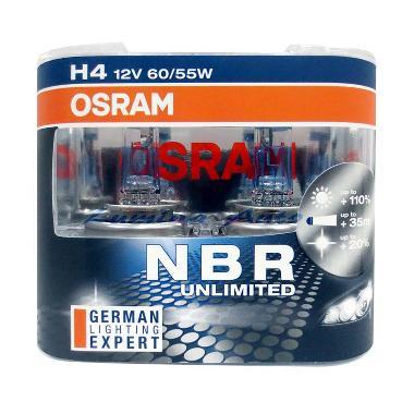 Osram Original H4 NBR Nightbreaker Unlimited 12V 60/55W Lampu Mobil