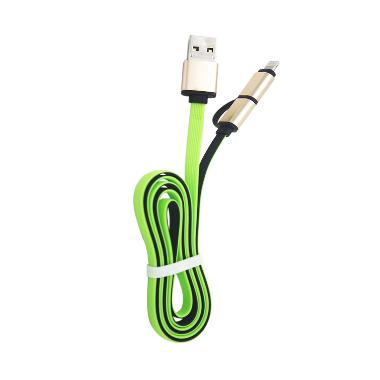 USB Otg 2IN1 Cable Charge & Sync Data - Hijau