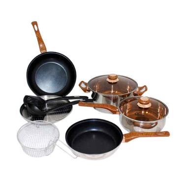 Oxone OX-911 Basic Cookware Set [4 Panci + 2 Kitchen Tools]