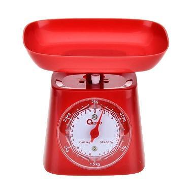 Oxone OX 211 Timbangan Dapur - Merah [3 kg]