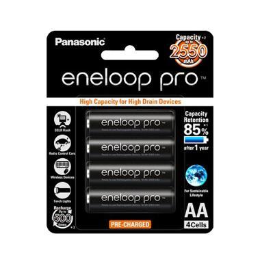 Panasonic AA Eneloop Pro Baterai [2550 mAh/4pcs]