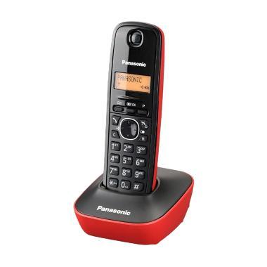 Panasonic Cordless Phone KX-TG1611 Merah Wireless Telephone