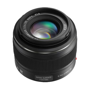 harga Panasonic Leica DG Summilux 25mm f/1.4 ASPH H-X025 Hitam Lensa Kamera Blibli.com