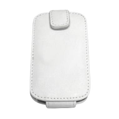 PDair Flip White Leather Case Casing for Blackberry 9790