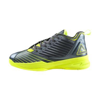 PEAK Soaring Low Series E51011A Abu Kuning Sepatu Basket
