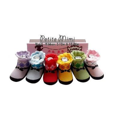 Petite Mimi Ribbon Kaos Kaki [6 Buah]