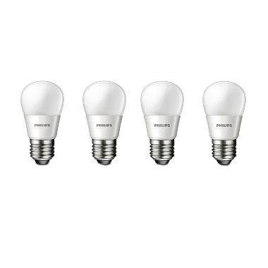Philips Bulb P45 Lampu LED - Warm White [3.5 Watt/4 Buah]