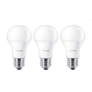 Philips LED Bulb A60 Putih Lampu [10.5 Watt/3 Pcs]