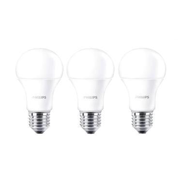 Philips LED Bulb A60 Putih Lampu [13 Watt/3 Pcs]
