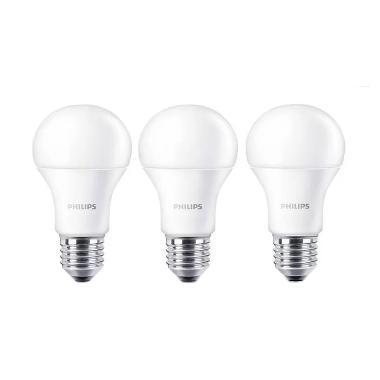 Philips LED Bulb A60 Putih Lampu [6 Watt/3 Pcs]