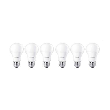 Philips LED Bulb A60 Putih Lampu [7 Watt/6 Pcs]