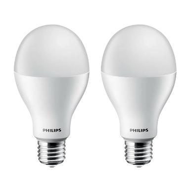 Philips LED Bulb A67 Putih Lampu [18 Watt/2 Pcs]