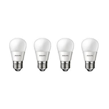Philips LED Bulb P45 Putih Lampu [3 Watt/4 Pcs]