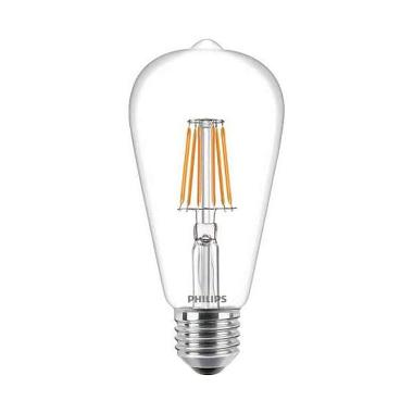 PHILIPS ST64 E27 Dimmable Classic Lampu LED - Warm White [7W]