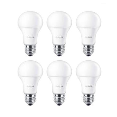 Philips LED Putih Lampu Bohlam [13 W-100 W/6 Pcs]