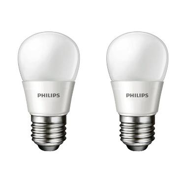 Philips LED Putih Lampu Bohlam [2 Pcs/3 W-25 W]