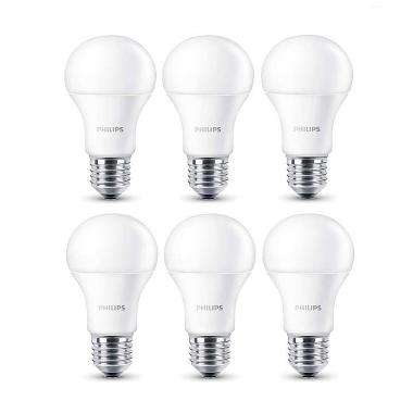 Philips LED Putih Lampu Bohlam [3 W-25 W/6 Pcs]