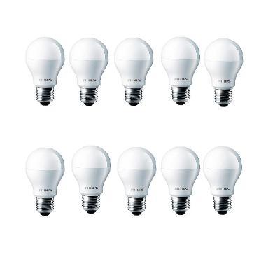 Philips LED Putih Lampu Bohlam [4 W-40 W/10 Pcs]