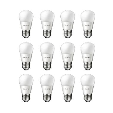 Philips LED Putih Lampu Bohlam [4 W-40 W/12 Pcs]