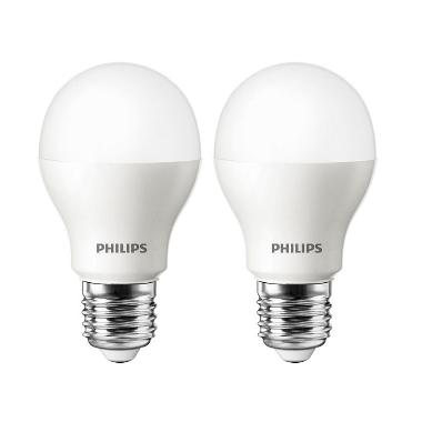 Philips LED Putih Lampu Bohlam [4 W-40 W/2 Pcs]