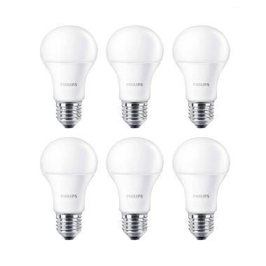 Philips LED Putih Lampu Bohlam [4 W-40 W/6 Pcs]