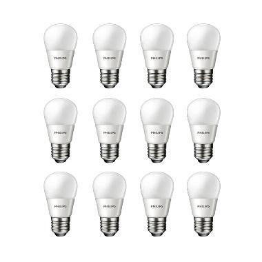 Philips LED Putih Lampu Bohlam [6 W/12 Pcs]