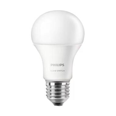 Philips Scene Switch Bulb Lampu LED - Cahaya Putih dan Kuning [9.5W]
