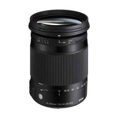 Sigma 18-300mm F3.5-6.3 DC Macro OS ... ry Lensa Kamera for Nikon