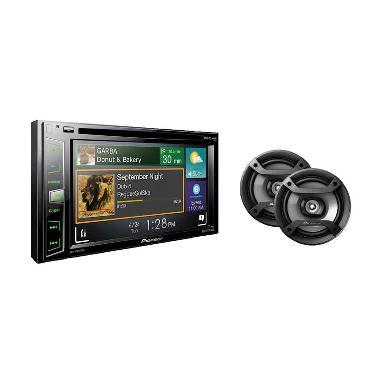 Pioneer X1850 DVD + TS F1634R Paket Audio Mobil