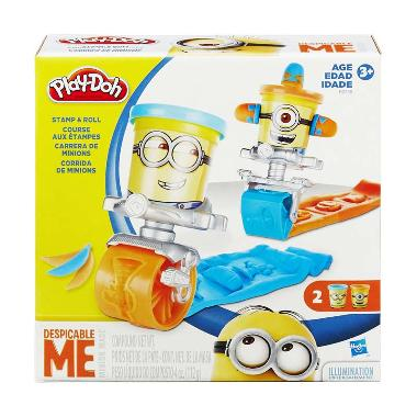 Play-Doh Despicable Me Stamp And Roll Set B0788 Mainan Anak