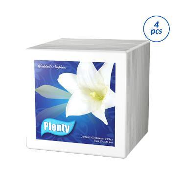 Plenty Coctail Napkin Full Emboss Plcn 002 Tissue 4 Pcs 100 Sheets