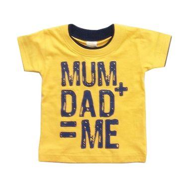 PLEU Tshirt Mum-Dad Yellow Kaos Ana ...