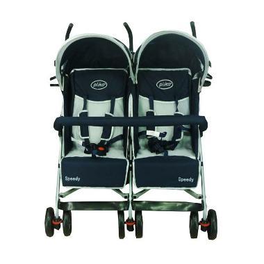 harga Pliko 2168 Twin Speedy Navy Blue Stroller Blibli.com