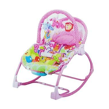 Pliko Rocking Chair Hammock 3 Phases Lion Pink Tempat Tidur Bayi