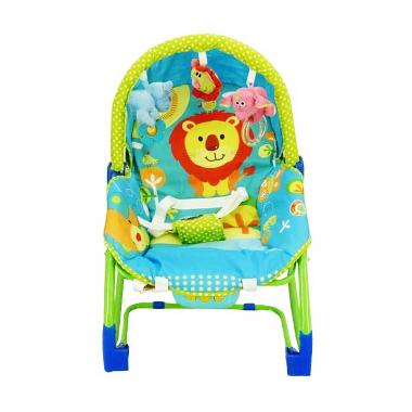 Pliko Rocking Chair Hammock 3 Phases Lion Baby Bouncer - Green