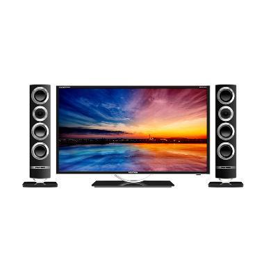 POLYTRON Cinemax Tower Speaker PLD-32T106 LED TV - Black [32 inch]