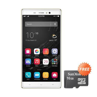 POLYTRON Zap 6 Posh Note 4G551 Smartphone - Gold + Free Memory Card + Perdana Indosat