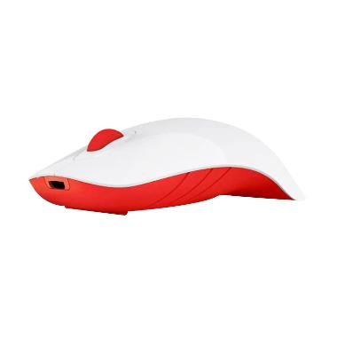 MorroLogic Air Shark Wireless Mouse White Red