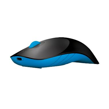 Powerlogic Air Shark Wireless Mouse - Hitam Biru