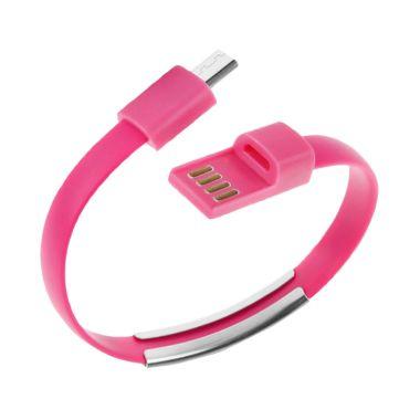 Premium Gelang Micro Usb Pink Kabel Data