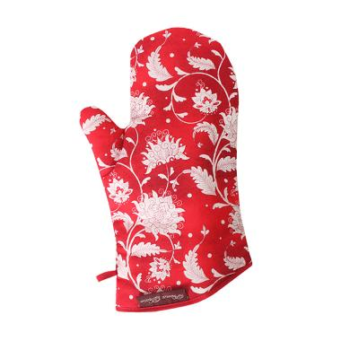 Prima Decor KITCHEN GLOVE - RED FLOWER
